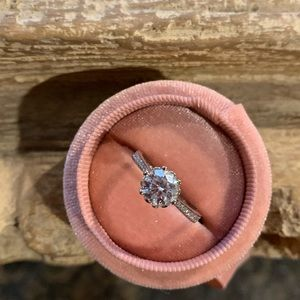 Moissanite engagement wedding bridal ring
